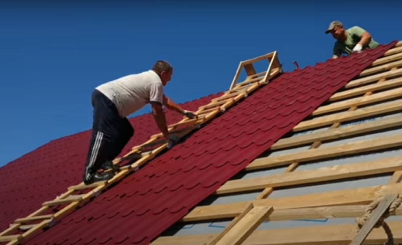 Roofers on the job